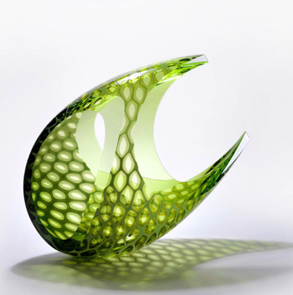 blown glass sculpture by mark leputa